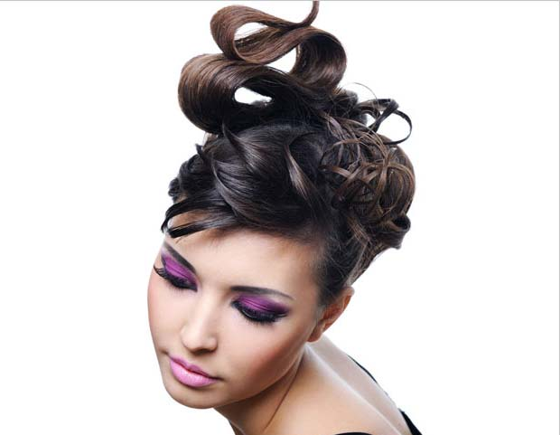 Hair Updo Styling
